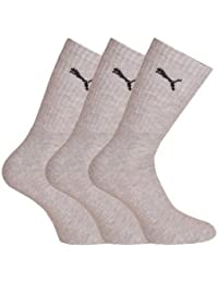 Puma - Calcetines de deporte para hombre, talla 39-42 - 6er Pack, color gris