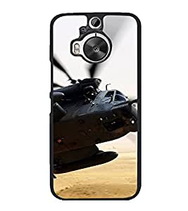 PrintVisa Designer Back Case Cover for HTC One M9 Plus :: HTC One M9+ :: HTC One M9+ Supreme Camera (Chopper With Missiles Military )