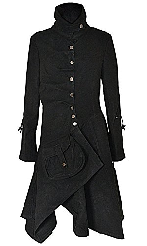 Damen Militärischen Stil ausgestattete Trenchcoat (Jacke Stil Militärischen Frauen)