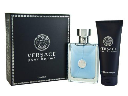 Versace Homme Geschenkset 100ml EDT + 100ml Haar- & Körper-Shampoo