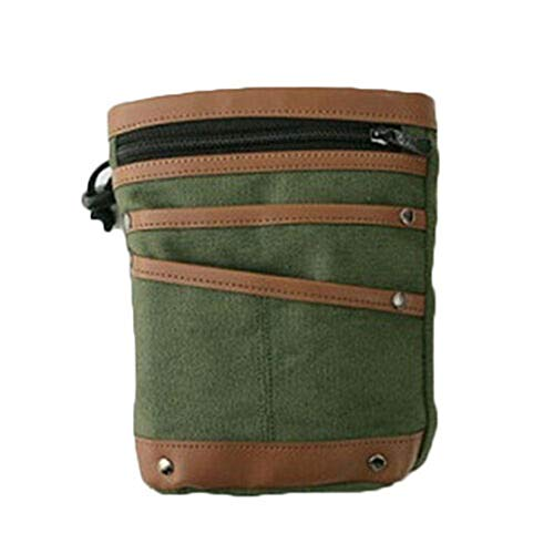 fang FANS Metalldetektion Hüfttasche Canvas Taschen mit Gürtel Metalldetektor-Segeltuchtasche findet Taillenhakentaschen-Etui für die Digitaler Metalldetektor (Army Green)