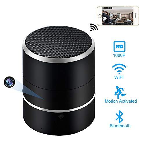 Caméra Cachée WiFi LXMIMI Enceinte Bluetooth 1080P HD Caméra Espion avec Objectif à Rotation de 180 ° et Détection de Mouvement Enregistreur Vidéo de Sécurité Mini Caméra sans Fil