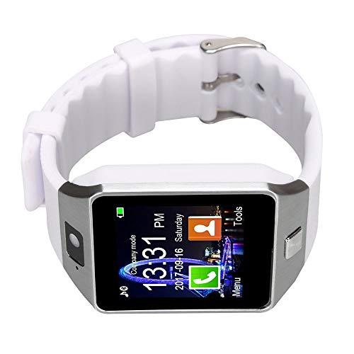 ZDMSEJ Bluetooth Smart Watch mit Kamera for Samsung S5 / Note 2/3 / 4, Nexus 6, HTC, Sony und andere Android-Smartphones, weiß (Color : White) (Iphone 4s White Apple 32gb)
