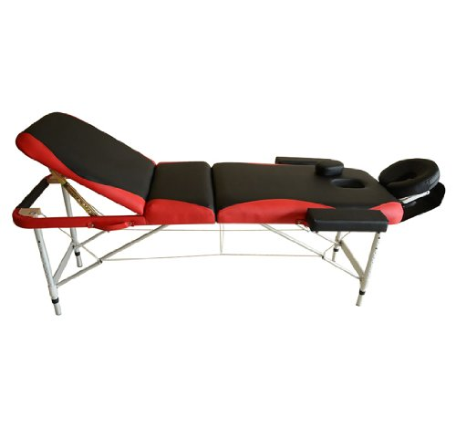 Homcom Lit/table de massage cosmetique pliable en...