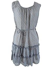 Unique boutique-bleu/blanc/rouge-taille 34/36 volantkleid a4–1 volants avec robe et ceinture