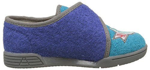 GBB Jungen Nunzio Hausschuhe Blau - Bleu (52 Ttx Bleu/Gris Dtx/908)