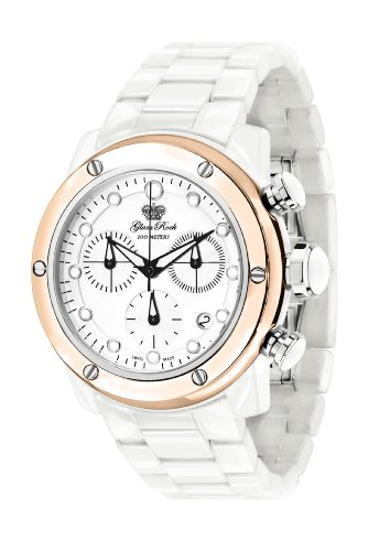 Glam Rock Women's GR50102 Aqua Rock Chronograph White Dial Ceramic Watch