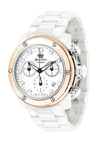 Glam Rock GR50102 - Reloj de Pulsera Mujer, Cerámica, Color Blanco