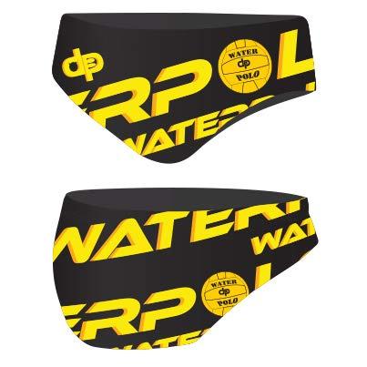 Diapolo WP Polo Schwarz Professioneller Schwimmhose Badehose Wasserballhose Herren Männer S M L XL XXL (M)