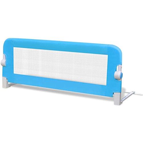 vidaXL Barandilla seguridad de color azul infantil para la cama 102 x 42 cm