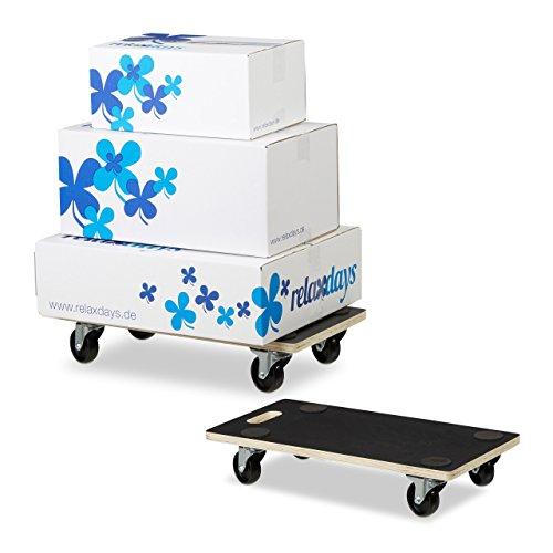 2 x Transportroller XL im Set, Möbelroller mit Feststellbremse, 400 kg, für alle Böden, Möbelhund, Transporthilfe -