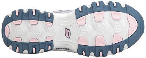 Scarpe sportive Skechers D'Lites per donna in tessuto blu Pink/Navy Knit