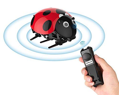 Virhuck DIY RC Marienkäfer, Bionic Insekt Spielzeug für Kinder, 2.4Ghz, Intelligenter Sensor, Remote / Touch / Automatikmodus, 3.7V 380mAh Akku, bis zu 30 Minuten Spielzeit, 1 Stunde Ladezeit, Interessanter DIY RC Auto für Kinder und Erwachsene.