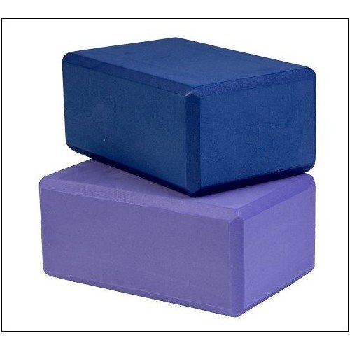 Yoga Direct 3-Inch Deluxe Foam Yoga Block, Blue