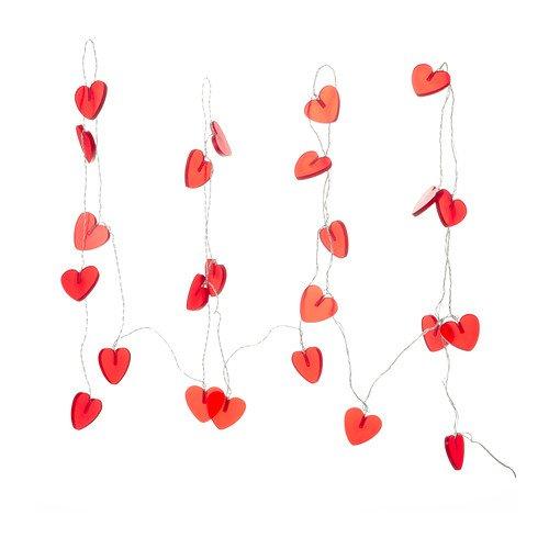 Preisvergleich Produktbild IKEA Ramsta - Beleuchtungskette 24 Herzen, rote