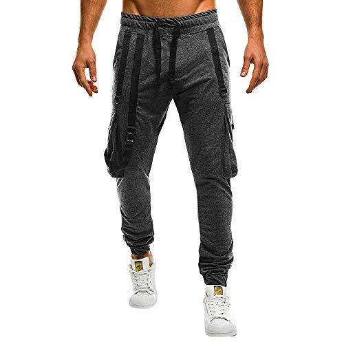 Landfox-pantaloni pantaloni sportivi da uomo casual tuta da uomo camisole tuta casual da lavoro sportivo pantaloni da lavoro casual con nastro coulisse elastici tasche laterali sportivi hip hop