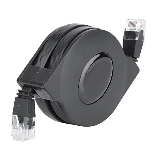 Zerone Cat 6Ethernet Kabel Ultra Flach, ausziehbares CAT6RJ45LAN Netzwerk Kabel Patch geschirmt flach Ethernet Kordel verstellbar -