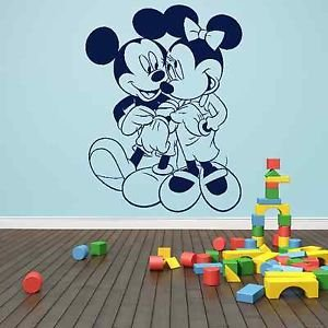 Iconic Stickers   Mickey Minnie Mouse Love Wall Sticker Design Mural Disney  Girls Kids Graphic K10