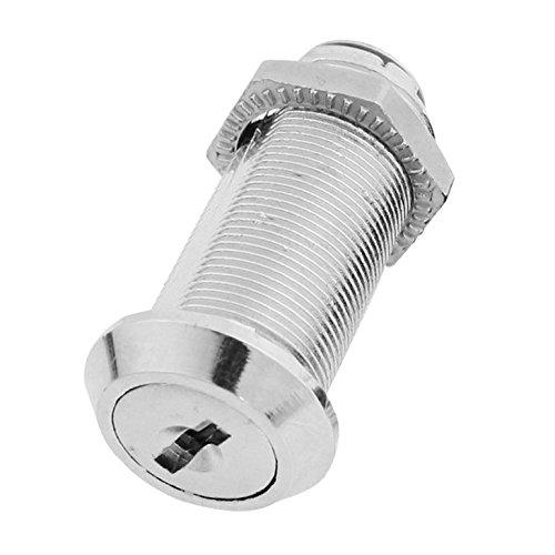 XieHe 23 mm Durchmesser 51 mm Hoehe Kabinett Metall Schloss - Silber Ton