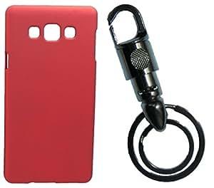 XUWAP Hard Case Cover With Matallic KeyChain For Samsung Galaxy Z3 - Red