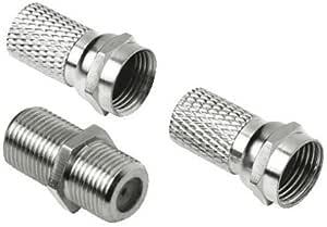 Sat Adapter Set 2 X F Stecker 5mm Adapter F Kupplung Elektronik