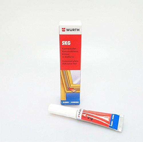2 x Würth Sekundenkleber farblos (4011231835435) 3gr Spezialkleber Alleskleber