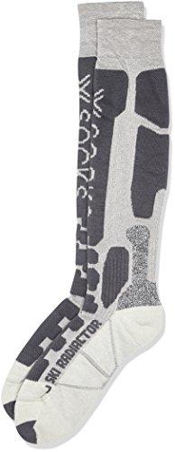 X-Socks Funktionssocken Ski Radiactor, Silver/Antracite, 35/38, X020410 (Socken Wolle Snowboard Italienischer)