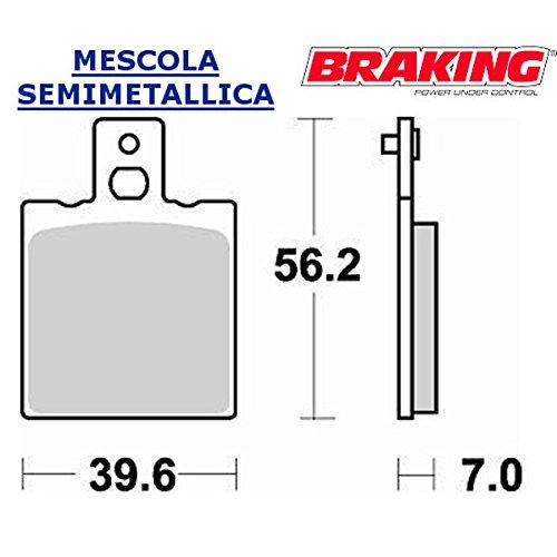 COPPIA PASTIGLIE POSTERIORE BRAKING PER MOTO GUZZI V65 GT FLORIDA CHOPPER POLIZIA6502004 (Gt Freno Posteriore)