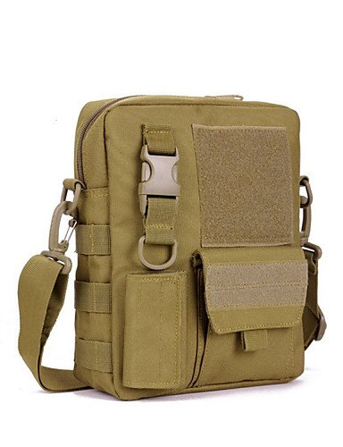 ZXC/Herren Messenger Taschen Angeln Military Sport Crossbody Tactical Umhängetasche/military Tasche MOLLE-System Single Schulter earth yellow