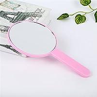 Preisvergleich für Baby-lustiges Spielzeug Mini Runde Form Hand Spiegel Kleine Glas Spiegel für Handwerk Dekoration Kosmetik Zubehör Rosa