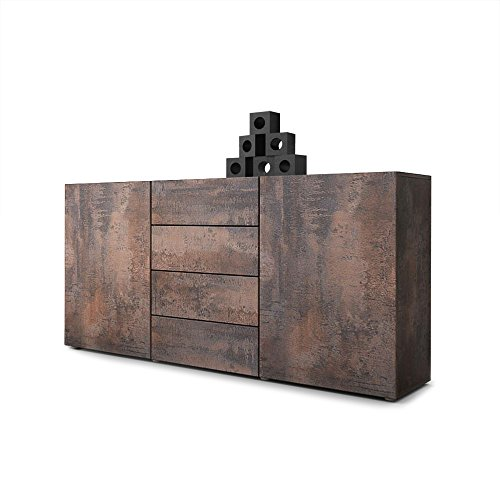 #Sideboard Kommode Massa in Stahlfarbe antik#