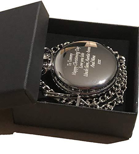 Best Man Geschenke, mit personalisierter Gravur, Maurer von London Taschenuhr in Geschenk-Box 18., 21., 40., 50., 60., Geburtstage, Ruhestand, Best Man, Hochzeiten, neuen Job