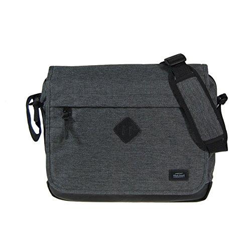 Dernier Umhängetasche Laptoptasche Schultasche Black modern Messenger Bag (dunkelgrau) -