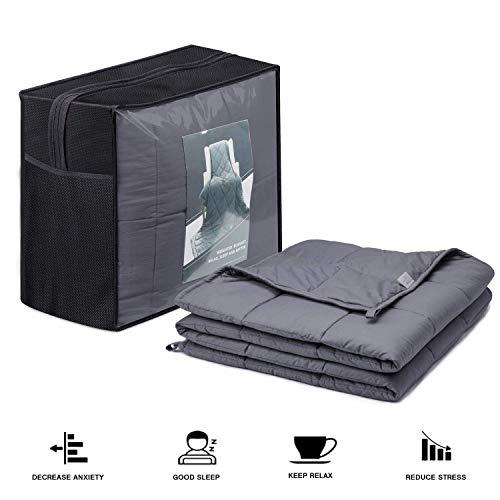 hblife Therapiedecke Gewichtsdecke Schwere Decke für Erwachsene/Jugendliche Für Besseren Schlaf
