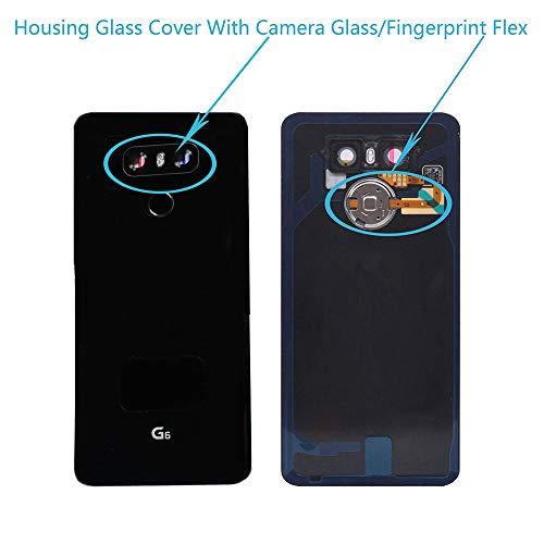 LG G6Gehäuse Kamera Glas Cover Button Lautsprecher Flex Teile, Full Housing Cover Assembly[LG G6 (Black)] Kamera Cover Assembly