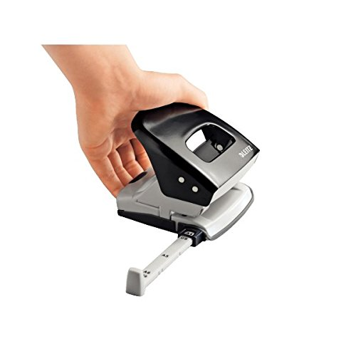 Leitz 50080095 Locher (30 Blatt, Anschlagschiene mit Formatvorgaben, Metall, Nexxt) schwarz