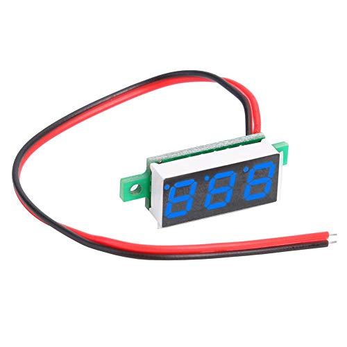 Dreamitpossible 0.28 inch Small Digital Direct Voltage Gauge Head Dual Line DC4-30V (Blue) (Low-voltage-verkabelung)