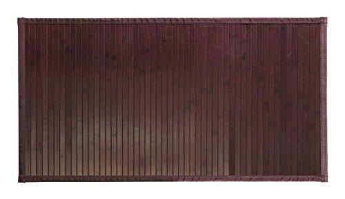 mDesign Duschvorleger Holz groß - Badematte aus dunklem Bambus - wasserabweisende Duschmatte für den Einsatz vor der Dusche, Badewanne oder in der Küche - 53,34 cm x 86,36 cm