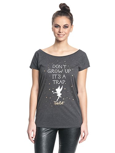 Thinkerbell - Damen Oversize Shirt - Its a Trap (Grau) (S-L) (S) (Disney Aladdin Blu-ray)