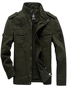 Dehutin 2017 Hombres Casual Abrigo Talla grande Moda Chaqueta de carga Collar del soporte Chaqueta de bombardero
