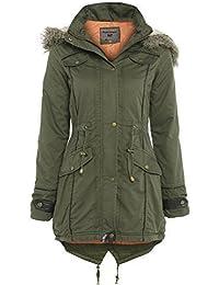 SS7 Oversized Hood Fishtail Parka Coat, Khaki, Sizes 8 - 22