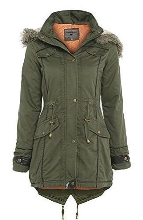SS7 Oversized Hood Fishtail Parka Coat, Khaki, Sizes 8 - 22 ...
