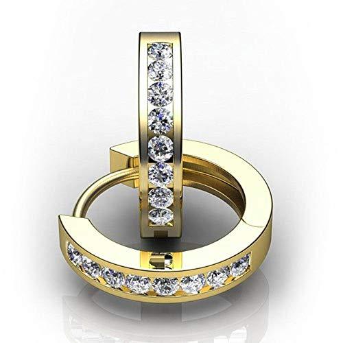 Zjuki Ohrringe 3mm Breite 925 Silber Gold Farbe Zirkonia Creolen Für Frauen 1. Jubiläum Geschenk Schmuck Mädchen Zubehör Einzigartige Party