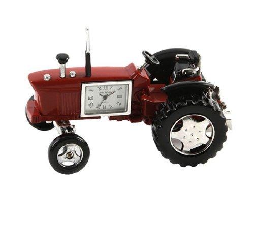 Miniaturuhr, Sammlerstück Uhr. Rot & Schwarz Traktor (Traktor Sammlerstücke)