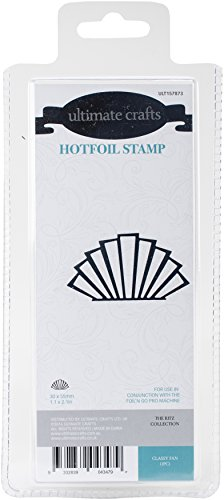 Ultimate Crafts Classy Fan Hotfoil Stempel, grau (Couture Hot Collection)