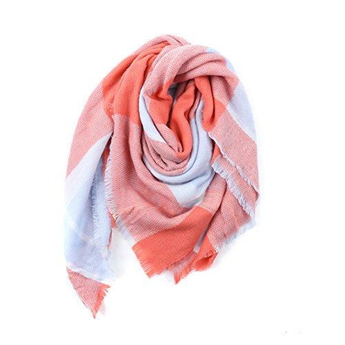 Damen Schal PATCHWORK Oversized Herbst Winter Deckenschal klassische Kariert Schal lang weich warm Karoschal Poncho