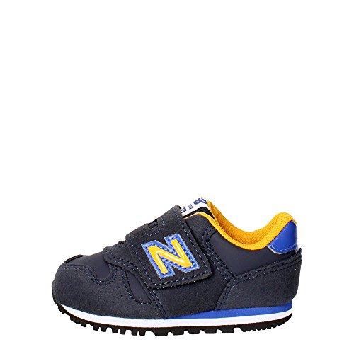 New Balance KV373Z1I Sneakers Garçon Cuir Synthetique Bleu/jaune Blue / Yellow (Blau)