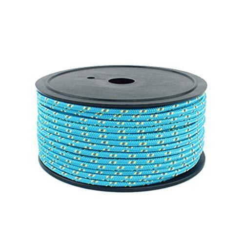 GUOCU 5mm Seil Abspannseile Spannseil Nylon Leuchtend reflektierend Fluoreszierendes Anleitung - 50 Meter - Für Zelt Outdoor Camping Und Wandern