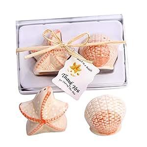 Bomboniera Sale e Pepe Marine conchiglie e stelle marine in ceramica