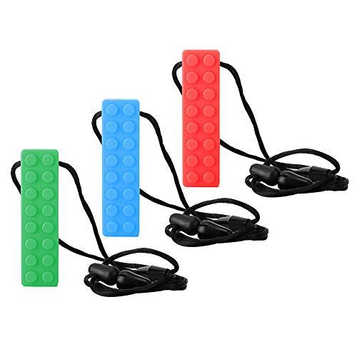 3 STÜCKE Baby Mini Weichen Silikon Beißring Halskette Infant Selbstberuhigende Schmerzlinderung Kinderkrankheiten Spielzeug Wunde Baby Zahnfleisch Dusche Geschenk(Rot, Blau, Grün)